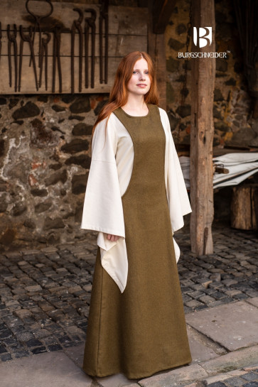 Surcot Albrun - Wolle Herbstgrün