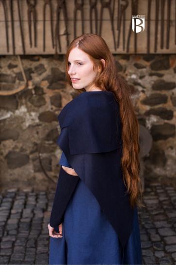 Tuch Bertrude Wolle blau