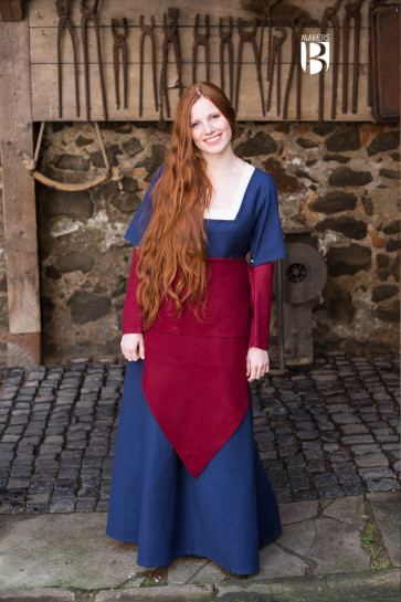 Rotes Tuch Bertrude aus Wolle