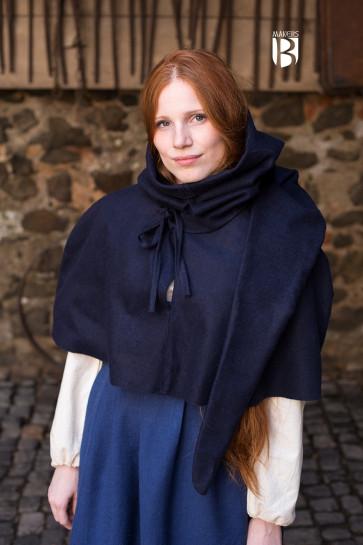 Blaue Gugel Curt aus Wolle