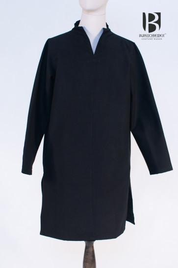 Lange Mittelalter Tunika Ekwin von Burgschneider in schwarz