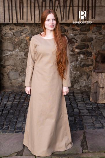 Hanffarbenes Wikinger Reenactment Unterkleid Freya von Burgschneider