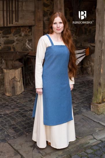 Wikinger Überkleid Frida von Burgschneider in robusten meerblauen Stoff