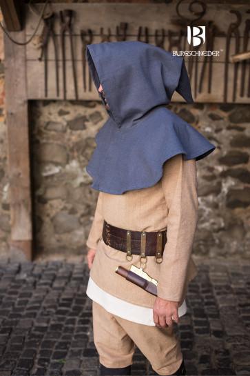 Mittelalter Gugel Capellus von der Seite
