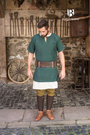 Kurzarmtunika Aegir von Burgschneider aus Baumwolle in grün