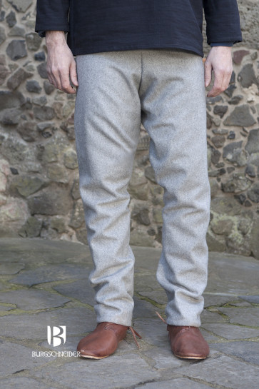 Graue Thorsberghose Fenris von Burgschneider aus Wolle