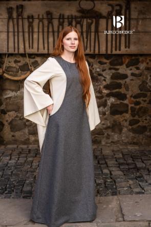 Graues Wollsurcot Albrun für Mittelalter LARP von Burgschneider