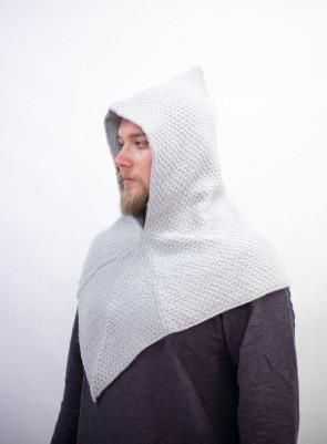Strick-Woll Gugel Asbjorn - Grau