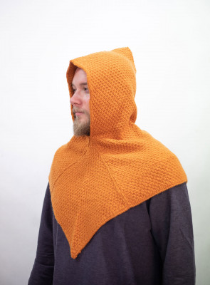 Strick-Woll Gugel Asbjorn - Orange