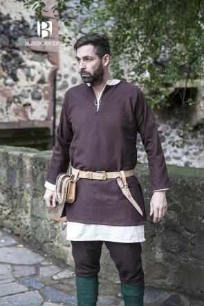 Braune Mittelalter Kurztunika Erik von Burgschneider