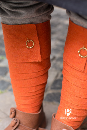 Orange Wool Puttees for Viking LARP