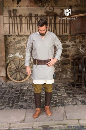Graue, kurze Wolltunika Lodin von Burgschneider