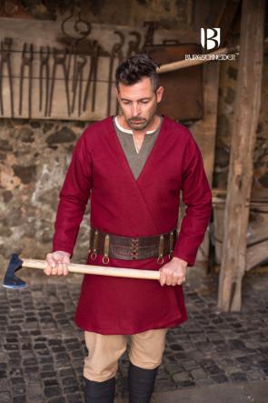 Wikinger roter Klappenrock Loki von Burgschneider