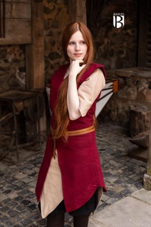 Tunika Meril - Wolle Rot