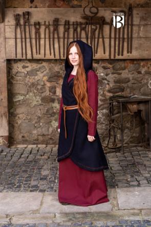 Wickelkleid Myrana - Wolle Blau