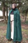 Kapuzenumhang Hibernus - Wolle Grün