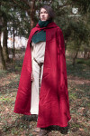 Kapuzenumhang Hibernus - Wolle Rot