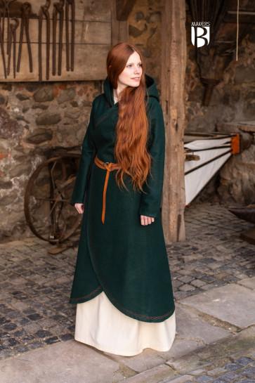 Mantel Enya - Wolle Grün