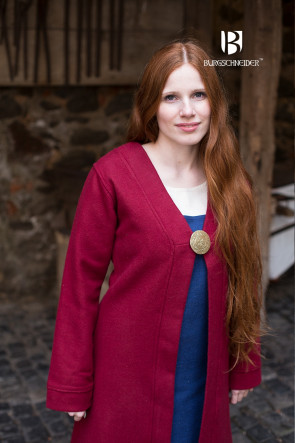 Birkamantel Aslaug - Wolle Rot
