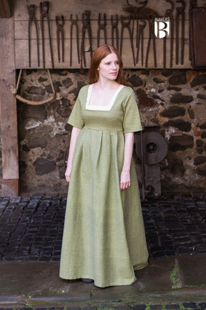 Lindgrünes Kleid Friedeswinde