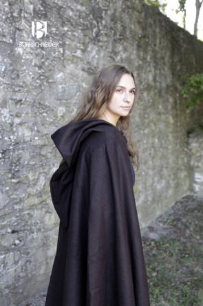 Kapuzenumhang Hibernus - Wolle Braun