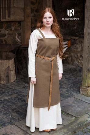 Trägerkleid Jodis von Burgschneider aus herbstgrünem Wollfilz