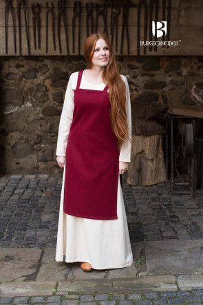 Rotes Mittelalter Trägerkleid Jodis von Burgschneider