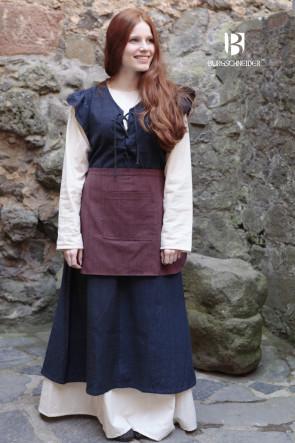 Frauengewand Agga mit Schürze und Untergewand Freya von Burgschneider