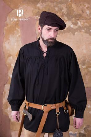 Schnürhemd Störtebecker von Burgschneider in schwarz
