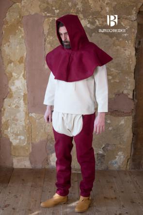Rote Mittelalter Gugel Cucullus von Burgschneider für die Pilgerfahrt