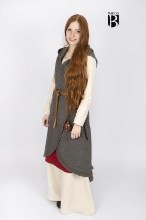 Wickelkleid Myrana - Wolle Dunkelgrau