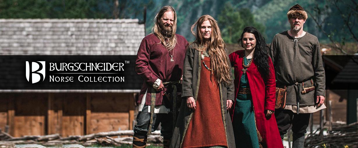 Banner zu unserer Norse Collection. Ein Mood-Banner mit 4 Beispielen von Kombinationen der Produkte